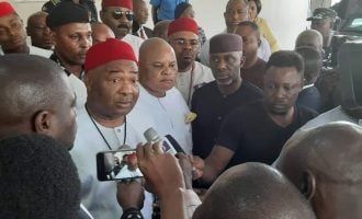 PHOTOS: Ararume, Nwosu join Uzodinma as he picks certificate of return