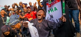 PHOTOS: Protesters demand reversal of Ihedioha's sack