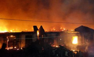 Angry youth burn down Oyo fire station over 'poor response' to inferno