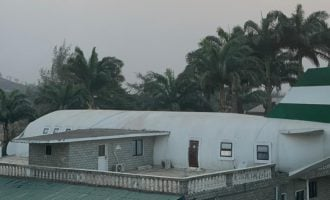 PHOTOS: Man builds 'aeroplane house' for wife in Abuja