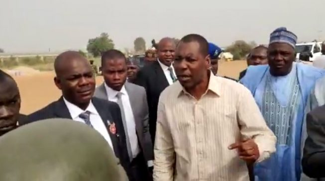 VIDEO: 'Boko Haram is attacking people and you are collecting N1,000 per car' — Borno gov shouts at soldiers