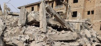 Man trapped as three-storey building collapses in Lagos