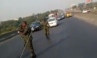 VIDEO: 'They can't do anything' — NDA cadets insult motorists after causing gridlock on road