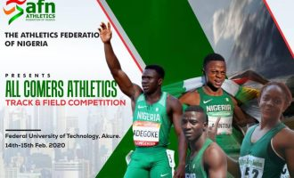 Adegoke, Arowolo, Udo-Gabriel set for AFN all-comers in Akure