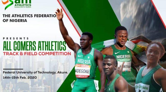 Adegoke, Arowolo, Udo-Gabriel set for AFN all-comers in Akure
