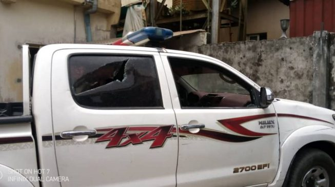 PHOTOS: Windows shattered, cars destroyed as protesters invade residence of Bayelsa gov-elect