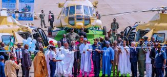 PHOTOS: Buhari inaugurates attack helicopters in Abuja