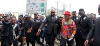 'My father told me supreme court makes mistakes' — Charly Boy leads protest against Ihedioha's sack