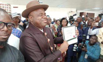 PHOTOS: Douye Diri receives certificate of return as Bayelsa governor-elect
