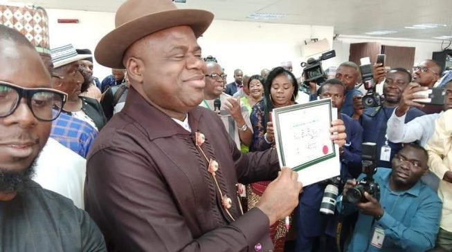 PHOTOS: Douye Diri receives certificate of return as Bayelsa governor-elect