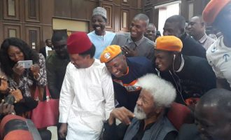 Soyinka, Shehu Sani in court for Sowore's trial
