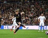 De Bruyne helps Man City beat Real Madrid in Spain