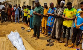 PHOTOS: Footballer 'killed by police' laid to rest in Ogun