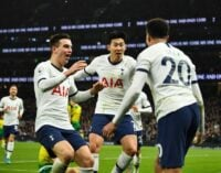 Tottenhamwin against ManchesterCity gifts Liverpool22-pointlead