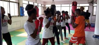 Women undergo self-defence training against violence, sexual assault