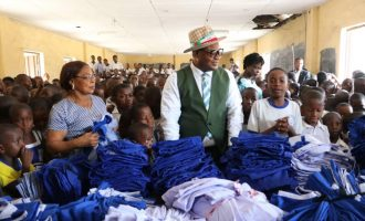 Emmanuel's aide donates uniforms to primary school pupils