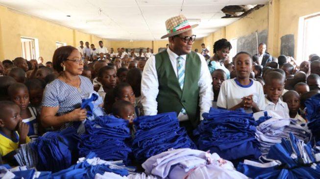 Emmanuel's aide donates uniforms to primary school pupils