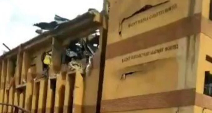 Lagos explosion: Boarding students trapped in dormitory