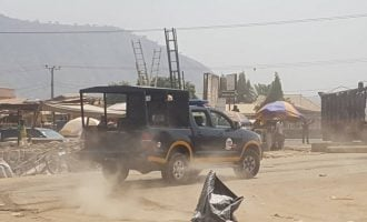 PHOTOS: Chaos as traders, task force clash over demolition of shops in Abuja