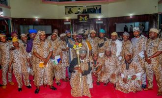 PHOTOS: Oyo lawmakers storm plenary in 'Amotekun regalia'