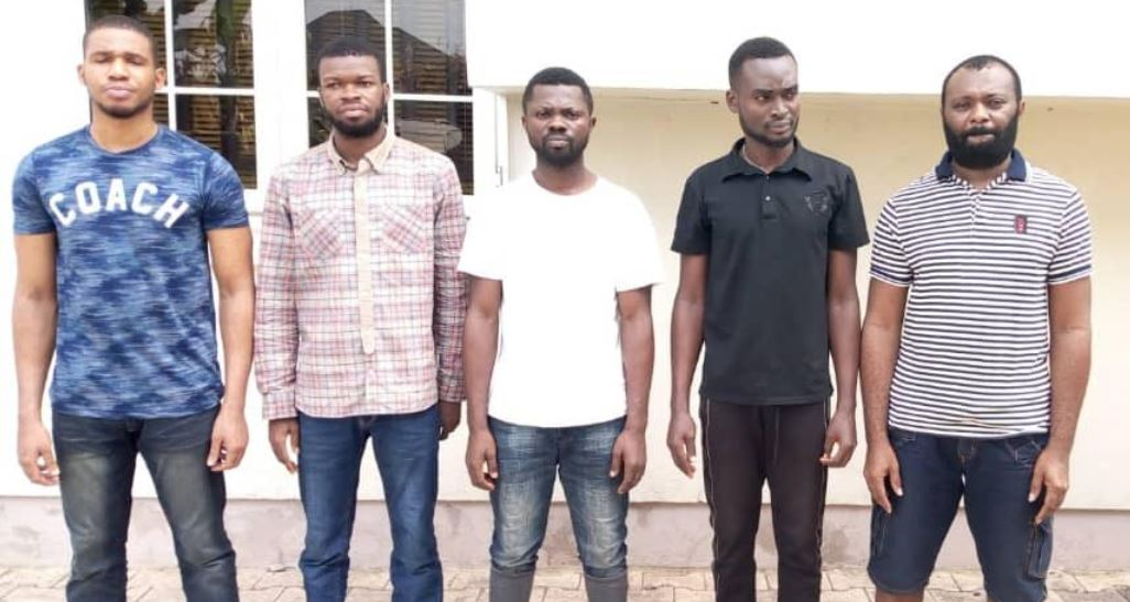 Image result for See Faces Of Five Fidelity Bank Staff Arrested For Stealing From Dead Customers In Uyo (Photo)