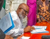 Akeredolu signs Amotekun bill into law