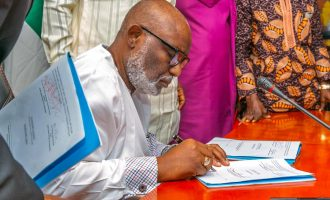 Akeredolu signs Amotekun bill into law