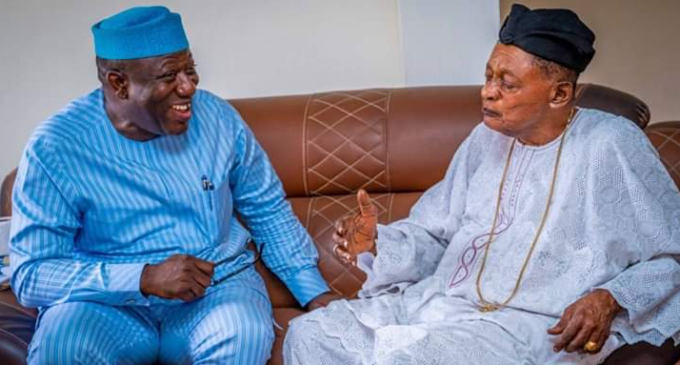 Fayemi visits alaafin — after 'warning' letter from monarch