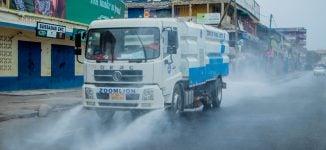 PHOTOS: Ghana disinfects markets over coronavirus