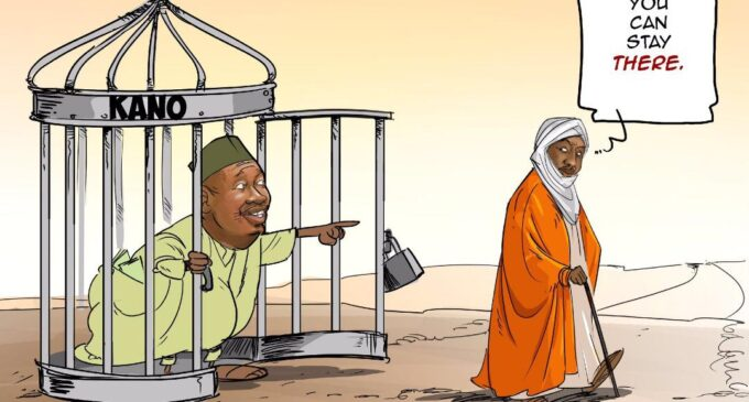 'This is an insult' — Ganduje's aide kicks over cartoon on Sanusi's dethronement