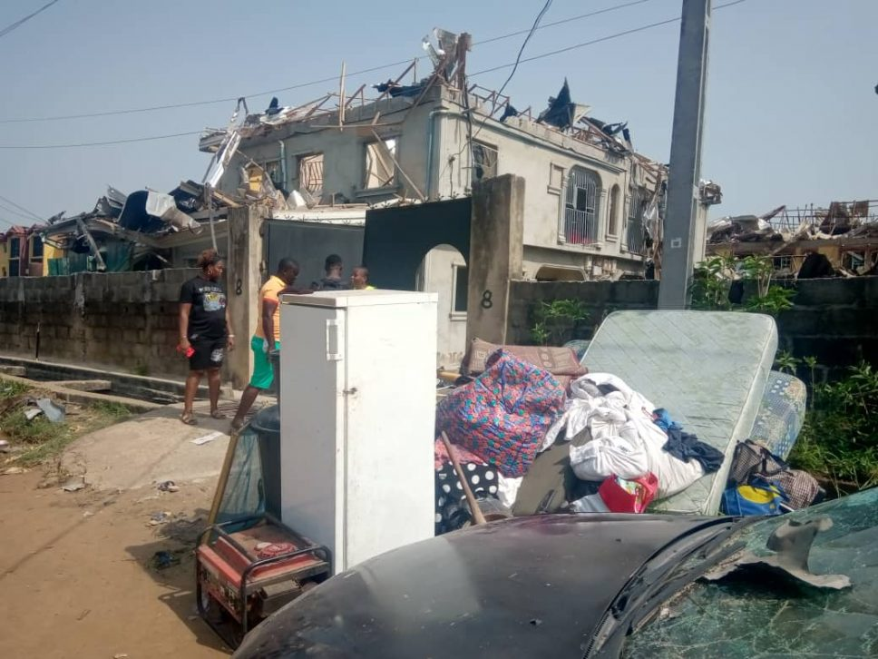 Images from scene of Lagos explosion