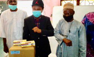 PHOTOS: Shehu Sani donates masks, sanitisers to prison, religious centres