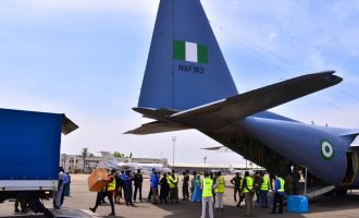 PHOTOS: Air force moves medical kit donated by Jack Ma from Lagos to Abuja