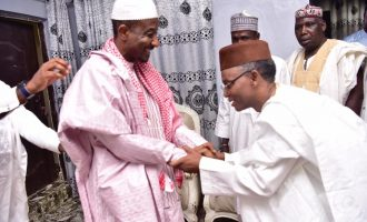 PHOTOS: Sanusi in high spirits as he receives el-Rufai in Awe