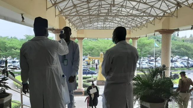 PHOTOS: No screening, no entry at Abuja court