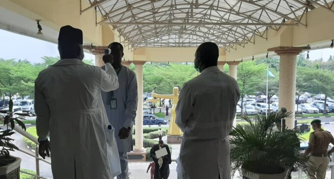 PHOTOS: No screening, no entry at Abuja court