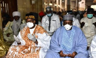 PHOTOS: Bauchi gov ignores social distancing — hours after recovering from COVID-19