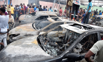 LASEMA: 30 cars destroyed in fire outbreak at NNPC petrol station