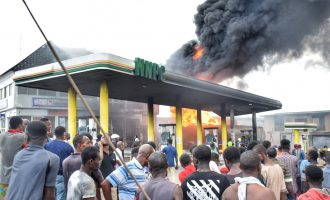 Fire guts NNPC petrol station in Lagos