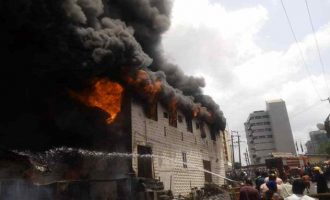 Shops destroyed in fire outbreak at Ibadan market