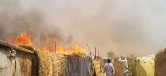 '14 killed' as fire guts IDP camp in Borno