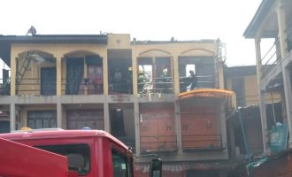 Fire breaks out in Lagos market