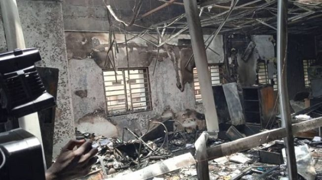 'Nothing sensitive was destroyed' — INEC speaks on fire outbreak