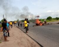 Angry youth protest against lockdown, attack policemen