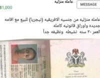 Outrage as Lebanese advertises Nigerian woman for sale on Facebook