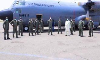 PHOTOS: Air force distributes oxygen tanks to COVID-19 isolation centres