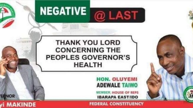 EXTRA: Rep celebrates Makinde's COVID-19 recovery with N500 recharge card giveaway