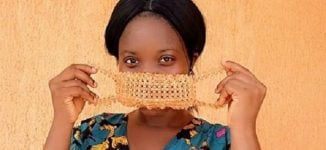 'She's even a first class anatomy graduate!' – Reactions as student makes face masks with beads