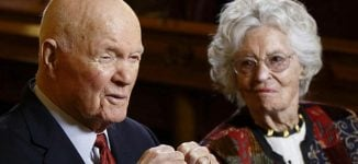 Widow of John Glenn, first American to orbit earth, dies of COVID-19 at 100