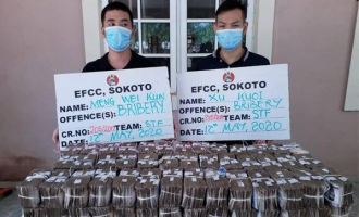 EFCC arrests two Chinese who 'offered N100m bribe' to cover up an investigation